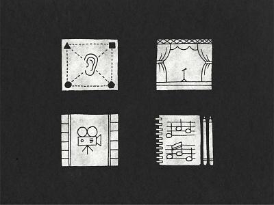 Illustrated Icon Set icon design icon set icon logo illustrator illustration art branding illustration louisville graphic graphic design designer design