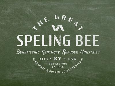 The Great VIA Speling Bee vintage design vintage logo branding typography retro illustration louisville graphic graphic design designer design