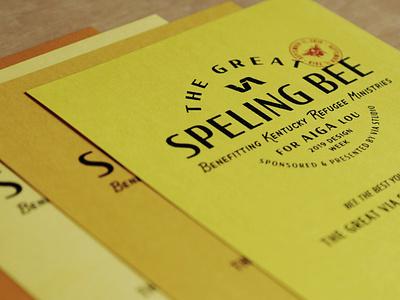 The Great VIA Speling Bee Flyers layout flyer design flyer vintage branding typography retro illustration louisville graphic graphic design designer design