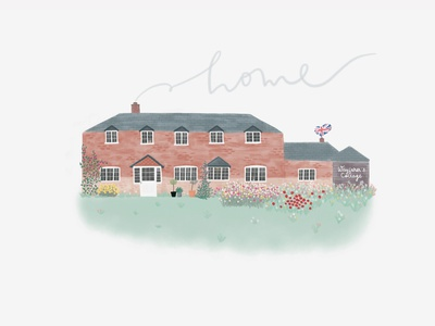 English Cottage illustration handdrawn elements drawing house illustration illustration procreate app procreate ipadpro