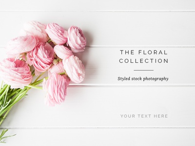 Floral styled stock photography mockup photoshop photo retouching styling still life photography