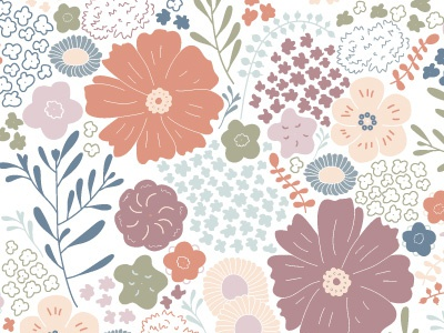 Southern wild flowers wild flowers botanicals drawing design illustration floral illustration seamless pattern repeat pattern pattern