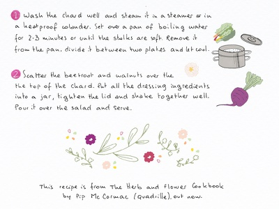 Illustration: lettering & elements for summer blog recipe hand drawings drawing food vegetables handdrawn elements doodles food illustration illustration