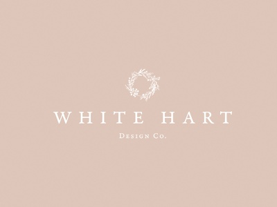 Branding for White Hart Design Co. typography vector logo design branding handdrawn elements illustration doodles drawing