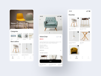 Furniture shop app design ecommerce app ecommerce design minimal app ux ui