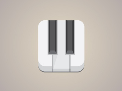 Piano.ico icon flat piano music