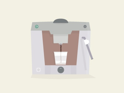 Coffee machine coffee machine coffee machine flat flat design