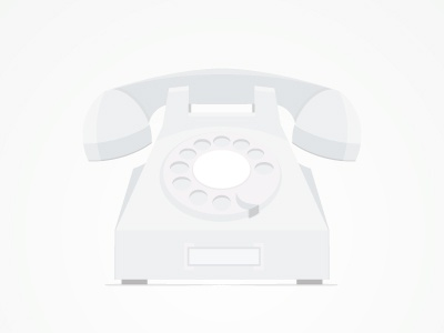 Flat Phone phone flat flat design telephone white