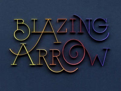 BlazingArrow hand lettering typography tactile typography quilling quilled paper art paper art lettering illustration design