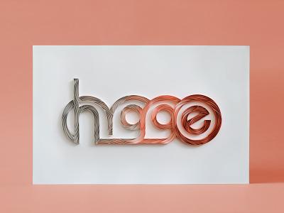 HYGGE hand lettering typography tactile typography quilling quilled paper art paper art lettering illustration design