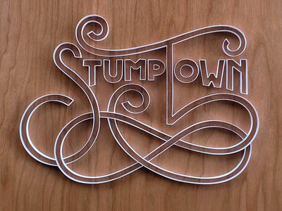 Stumptown stumptown portland hand lettering typography tactile typography quilling quilled paper art paper art lettering illustration design
