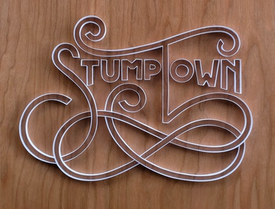 Stumptown stumptown portland hand lettering typography tactile typography quilling quilled paper art paper art lettering illustration design