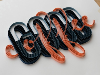Good Coffee portland hand lettering typography tactile typography quilling quilled paper art paper art lettering illustration design