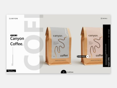 Coffee Web UI job work type dribbble wierd typography uxdesign ux design ux uiuxdesign uiux uidesign ui ux ui design ui logo graphicdesign graphic design