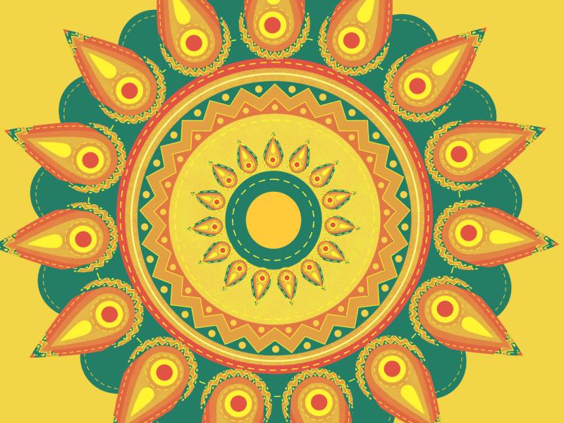 Sunflower geometry bauhaus art bauhaus affinity designer sunflower illustration floral design floral eligo design eligodesign eligo vector illustration vector art illustration ethno tribal mesoamerican mexican aztec sun sunflower