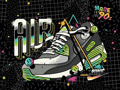Nike / Air Max 90 – 30th Anniversary nike air max 90s vector sneakerhead sneaker retro airmax nike