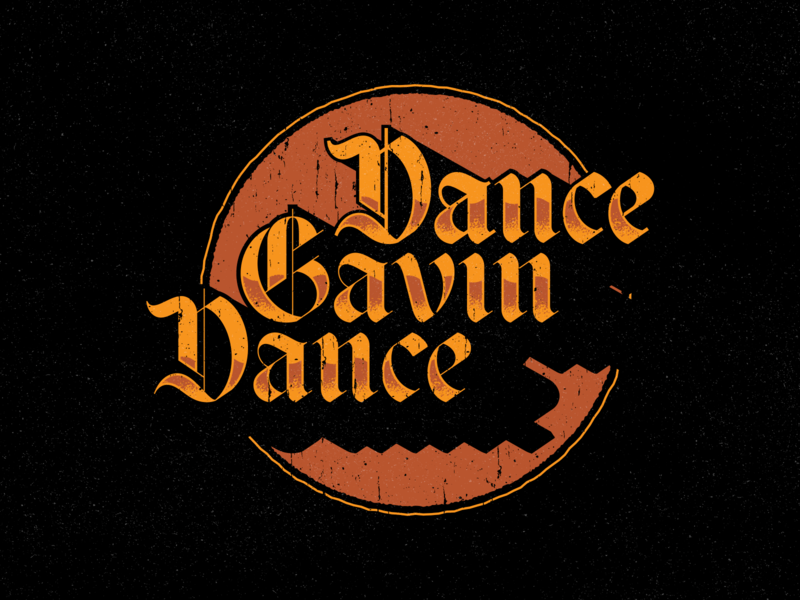 Dance Gavin Dance type vector merch dance gavin dance