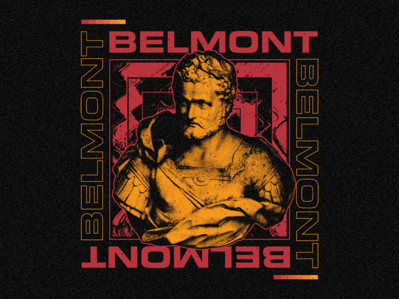 Belmont pop punk apparel merchandise illustrator photoshop vector band merch belmont