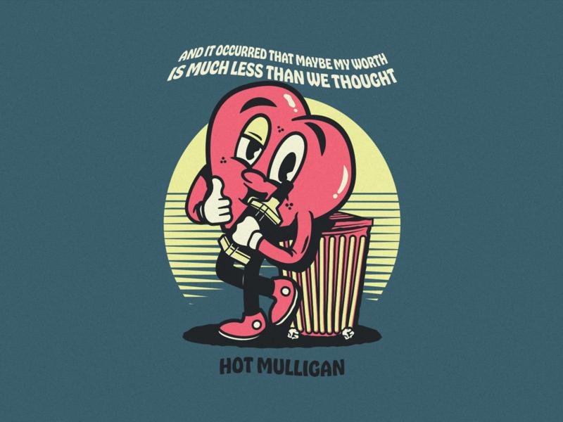 Hot Mulligan t-shirt design illustrator illustration music pop punk band apparel merch vector