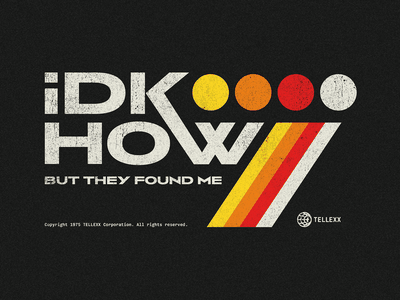 iDKHOW vintage music illustration apparel vector band merch idkhow