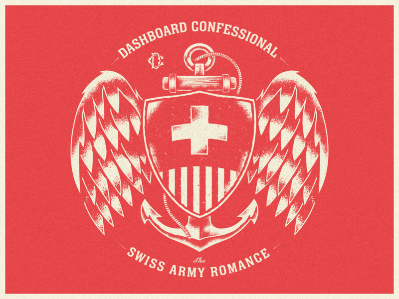 Dashboard Confessional - Swiss Army Romance vector merch traditional tattoo navy badge romance army swiss emo dashboard confessional