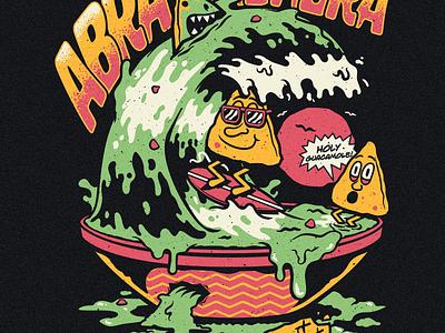 Abraskadabra - Guacamole illustrator illustration apparel vector mexican nacho ska band merch food guacamole
