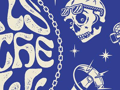 WIP design illustrator skull skateboard illustration apparel vector