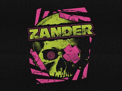 Zander - Vision vision vintage skateboard band apparel merch vector