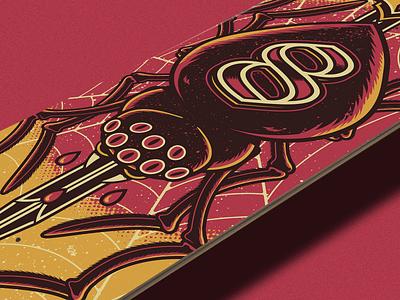 8EYES - Spider illustrator illustration vector tattoo spider shape deck skateboard