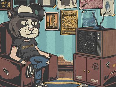 Leandro Neko - Quem eu sou skateboard warped tour blink-182 cat album cover pop punk