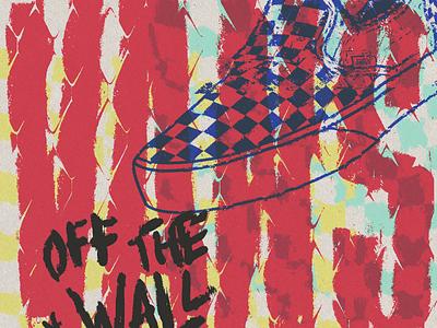 Vans skateboard apparel illustrator illustration grunge shoes offthewall vans