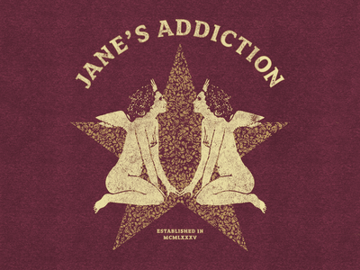Jane's Addiction music illustrator band app merchandise design vintage vector perry farrell merch apparel janes addiction