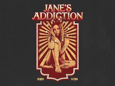 Jane's Addiction california los angeles halftone vintage illustration illustrator band apparel merch vector