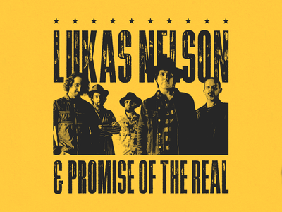 Lukas Nelson & POTR merch design music apparel merchandise country merch lukas nelson