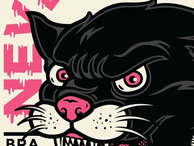 Black Panther vector halftone rage pop punk brazil 011 band apparel merch panther