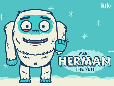 Herman the Yeti - Kik Messenger Sticker Pack snow emotion character vector app kik chat messenger pack sticker yeti