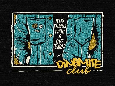 Dinamite Club - Jacket glam rock band jacket illustrator apparel merchan estaiada sao paulo dinamite club pop punk merch