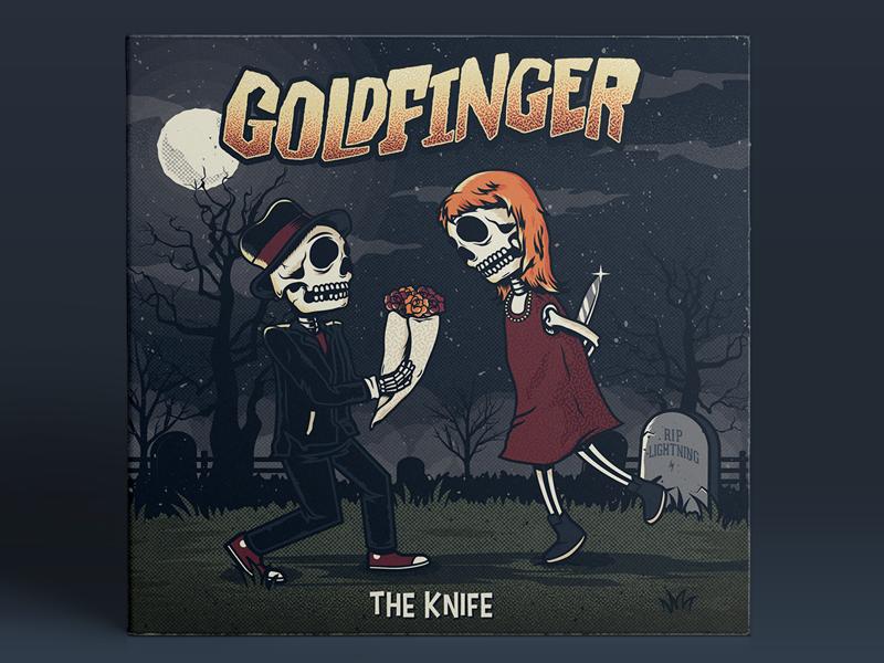 Goldfinger - The Knife mxpx rise records blink 182 mark hoppus john feldmann cover album merch band hard core ska goldfinger