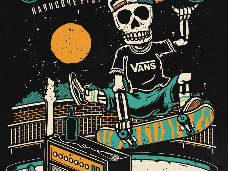 Vans Oxigênio Festival shoes vector band music hardcore festival skateboard vans