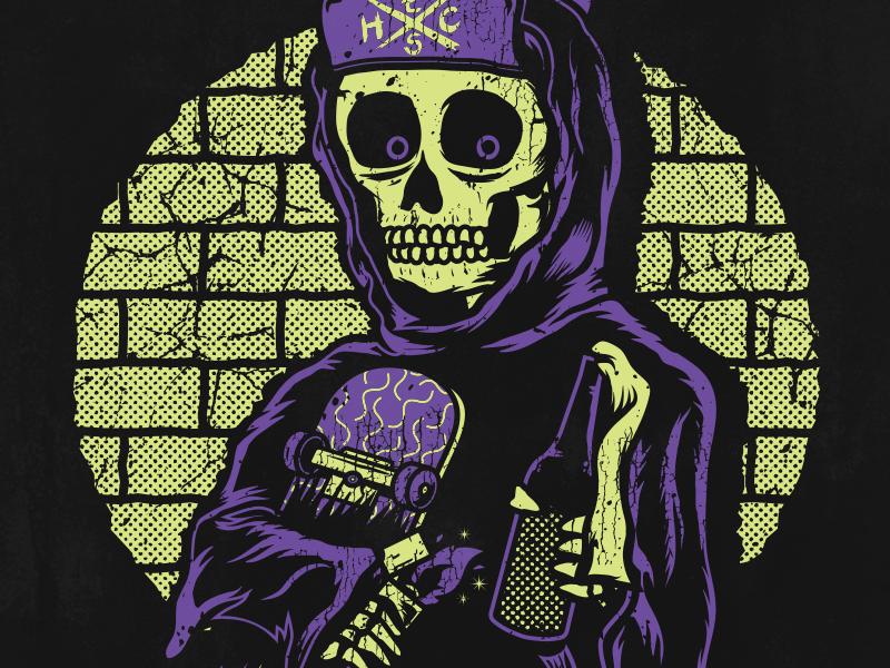 Dead Fish - Molotov molotov skateboard skate sleketon skull merch apparel punk rock band hardcore hard core dead fish