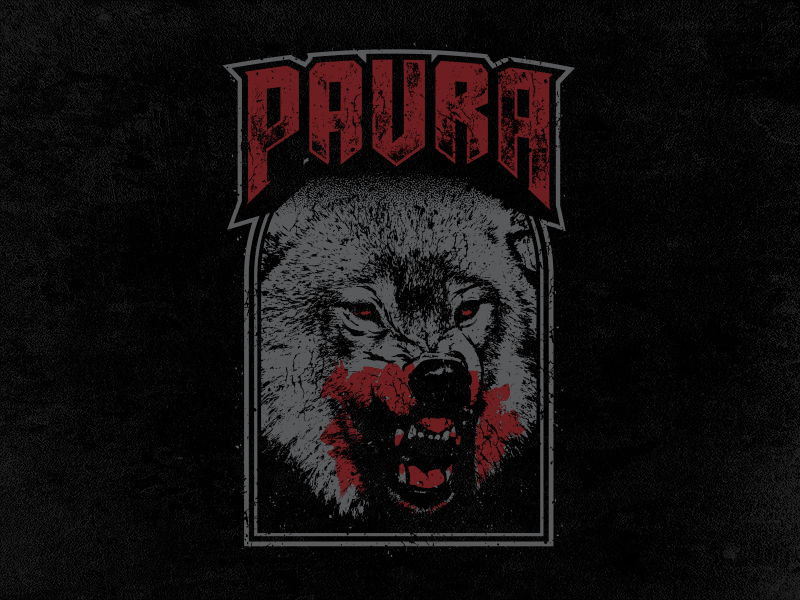 Paura - Wolf blood animal wolf vector merch band hardcore