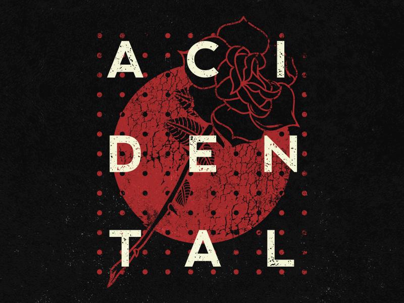 Acidental vector grunge music apparel merch band design rose