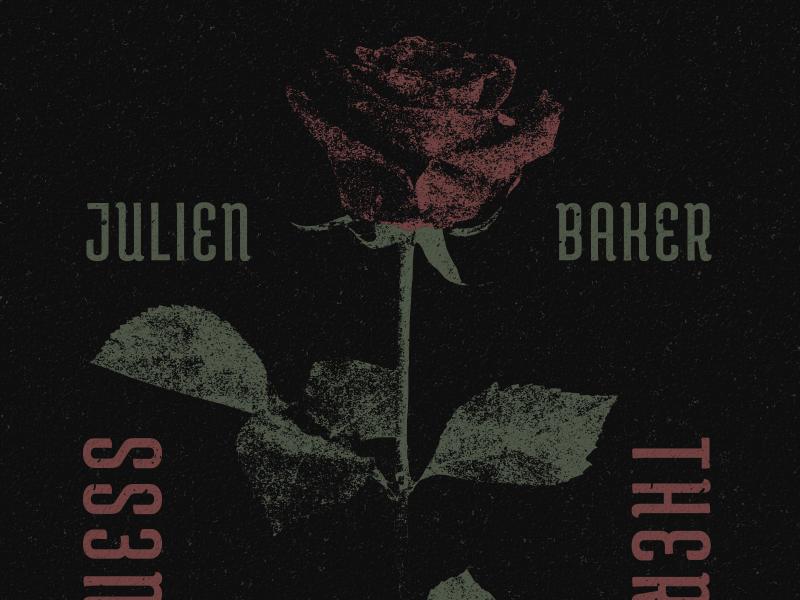 Julien Baker - Rose vector band merch rose music apparel julien baker