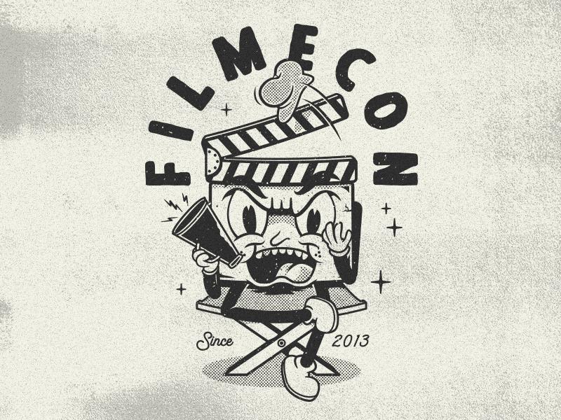 FilmeCon retro vintage character cartoon video filmecon merch apparel