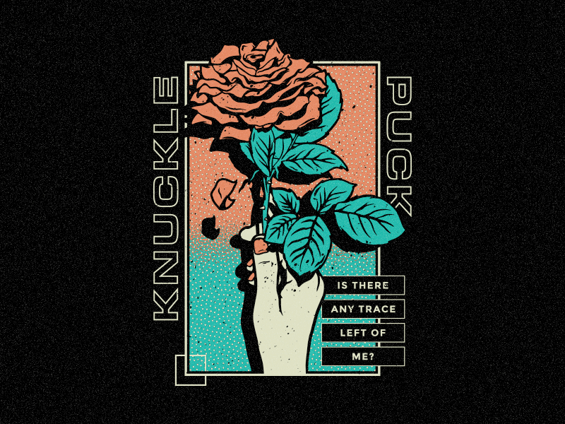 Knuckle Puck - Rose illustrator vector hot topic fearless pop punk band merch knuckle puck