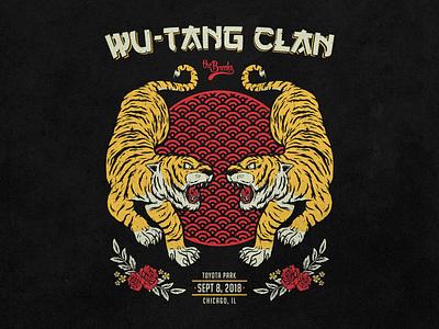 Wu-Tang Clan flower chicago vector oriental tiger rap hiphop wutangclan wutang