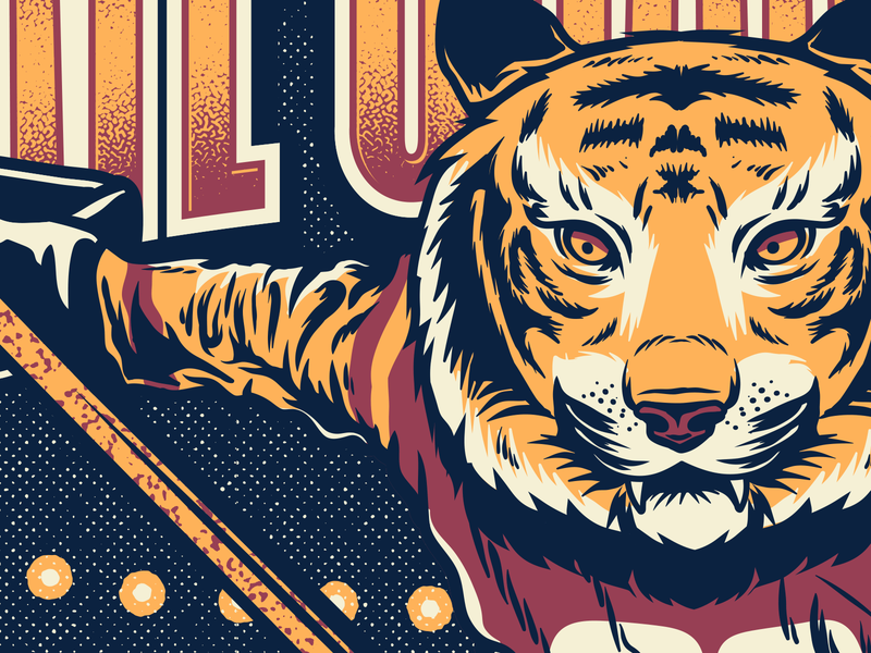 Tiger hockey vector tiger gig poster