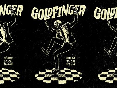 Goldfinger - Skeleton Dancing merch design merch skull california socal ska dancing skeleton goldinger