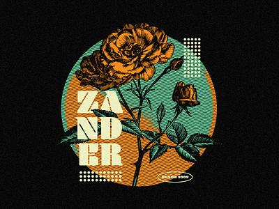Zander apparel illustrator illustration vector hardcore merch zander
