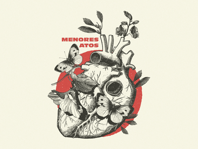 Menores Atos t-shirt vintage illustration band apparel merch vector